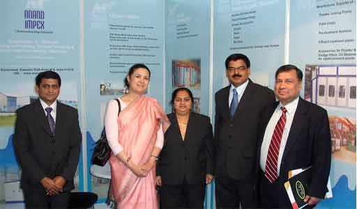 With Hon. Mira Shankar ( Indian Ambasador to the USA) at our stall in